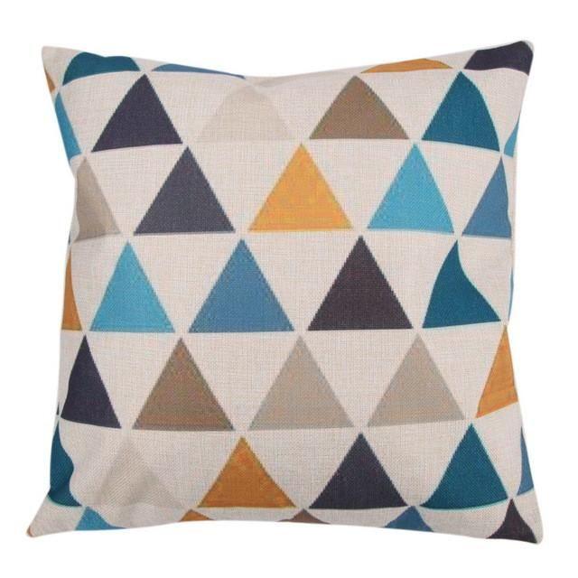 Fashion Creative India Super geometric Pattern Cotton Linen Square Pillow Case 45cm * 45cm Chair Waist Pillow Cover Home Textile