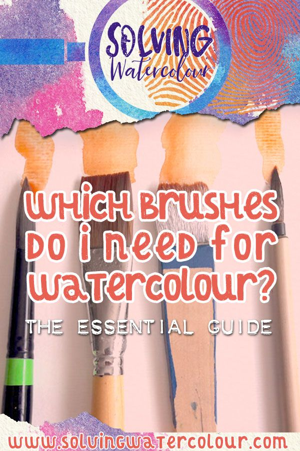 Watercolour Brushes A Helpful Illustrated Guide Watercolor