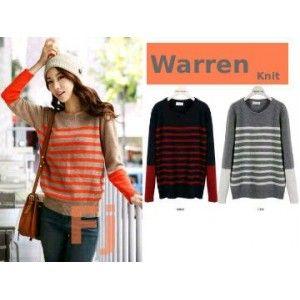 Waren Knitted Sweater - Grosir Pakaian Wanita