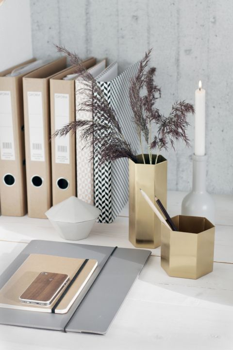 Gold Holders For Desk Stylizimo Design Voice Ferm Living In The Office