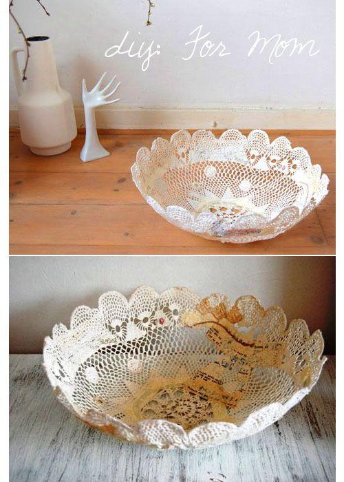 A lace bowl - DIY