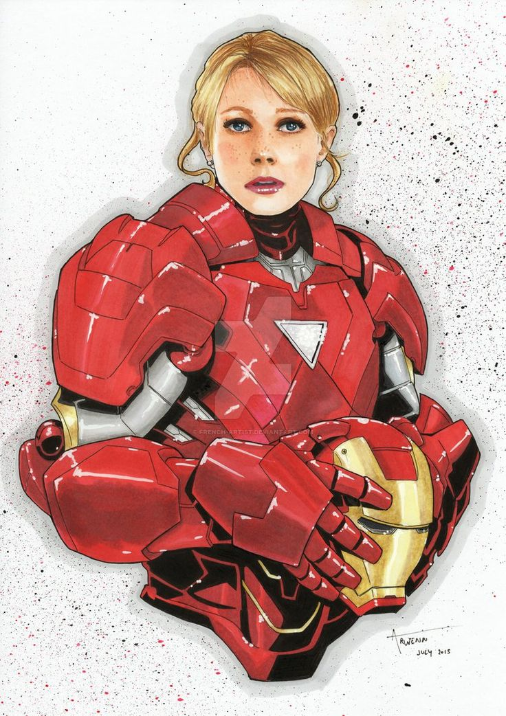 Bust Pepper Potts by Arwenn