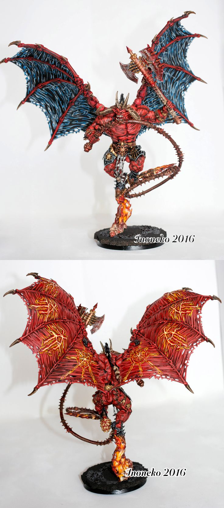 Daemons Of Khorne Bloodthirster Check out https://www.facebook.com/Inoneko-model-painting-247182882290975 for more!