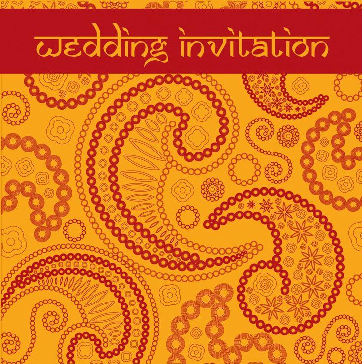 Paisley Promise wedding invitation