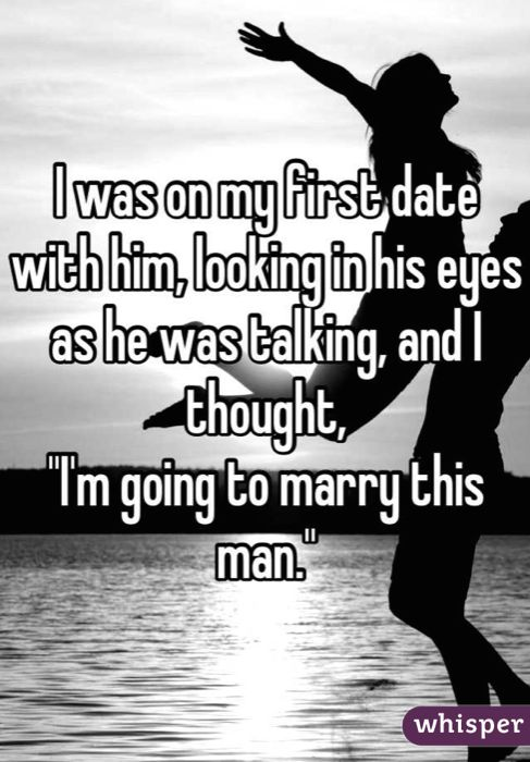 Whisper App.  First Date Confessions.