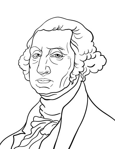 Printable George Washington Coloring Page Free PDF