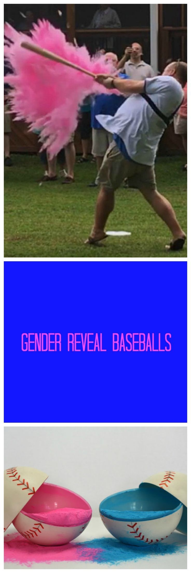 Gender Reveal idea! These are the original Gender reveal balls as seen on TV shows including the Today Show and ESPN Sports Center, and used by professional baseball players, including the Braves and Kansas City Royals. aff