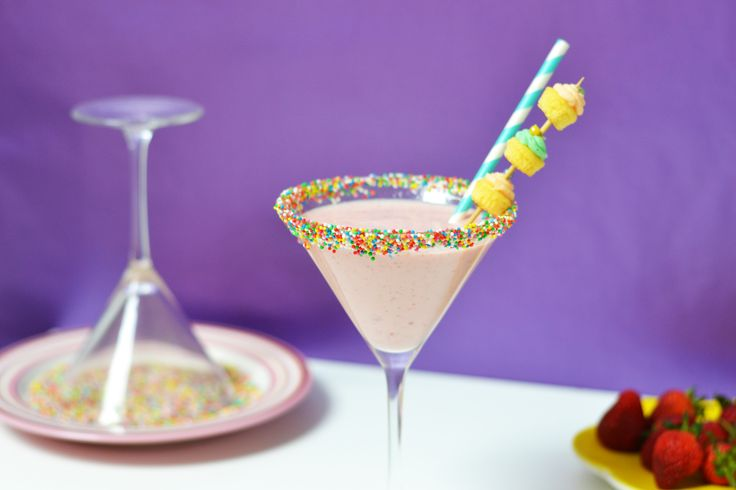 Non-Alcoholic Birthday Cocktail (or Cake-Tail!)