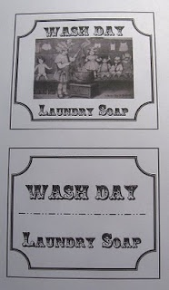 Wash Day laundry soap labels free