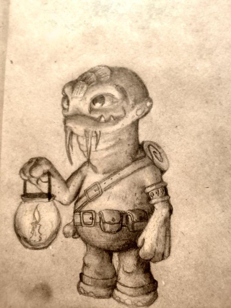 researcher by kuuvalas #scketch #fantasy #draw #art  #рисунок #скетч #набросок #карандаш