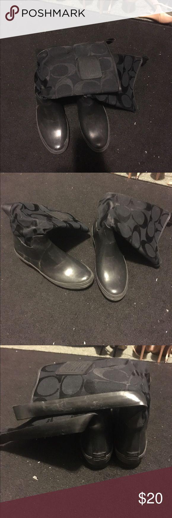 Coach rain boots Black rain boot - good condition Coach Shoes Winter & Rain Boots