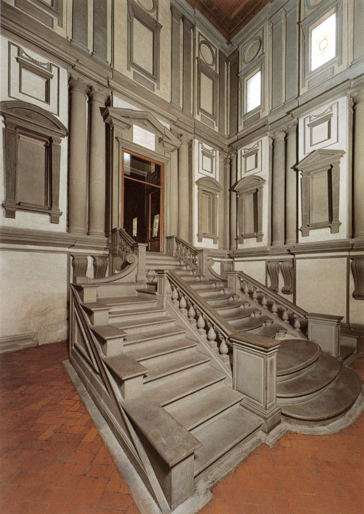 Michelangelo / Vestibule of Laurentian Library / San Lorenzo / Florence / 1523-59 / comm. by Pope Clement VII