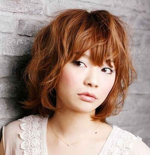 Korean Short Curly Hairstyles Trends For Girls Hairstyles : In ...