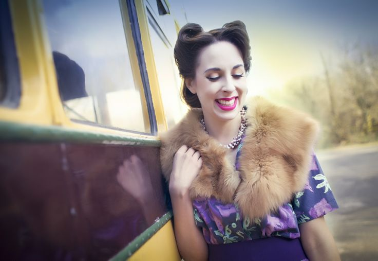 """You'd never know the original model didn't show up.  This #1940's inspired #vintage #fashion #shoot took place in #Devon. Luckily my fabulous stylist agreed to play model.  She had the perfect look.  Crisis averted.    Please visit  website and blog for more details on """"The Vintage us Project""""  http://alexandragunnoe.com  http://alexandragunnoe.blogspot.co.uk/  Alexandra Gunnoe Photography #alexandragunnoe"""