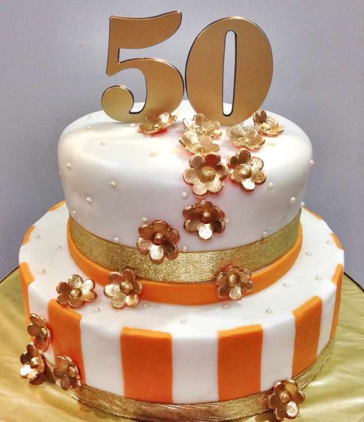 50th Anniversary Cake for a very special couple, Aunt Lydia and Uncle Kevin Karthigesu on their 50th year together.