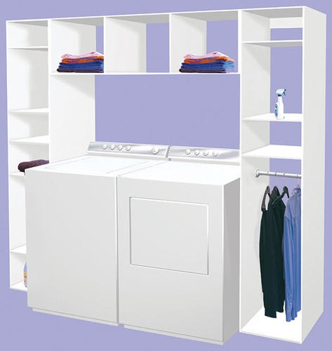Laundry Organizer - can I make this with Ikea or Walmart bookcases.