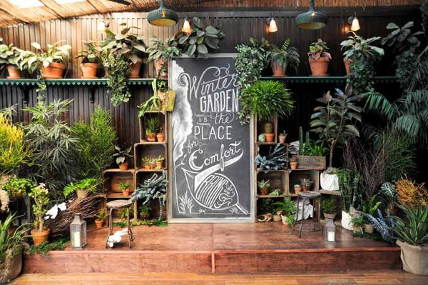 shop decoration by green fingers