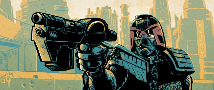 Stomm! Dredd lines up a shot