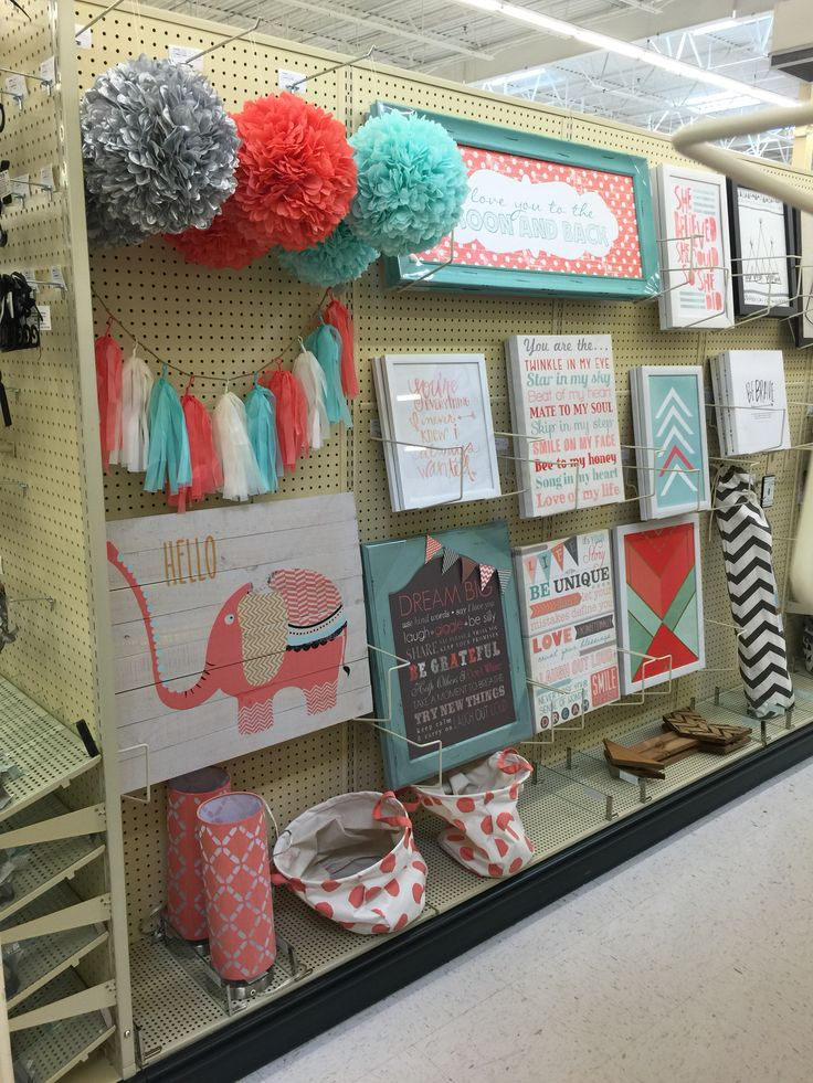 Mint & Coral Decorations @ Hobby Lobby