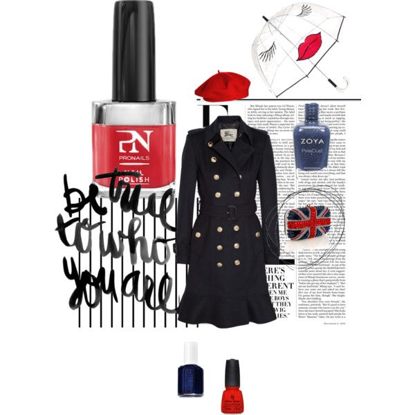 """""""#British heart #nail #polish #fashion"""" by unghie-bellezza on Polyvore"""