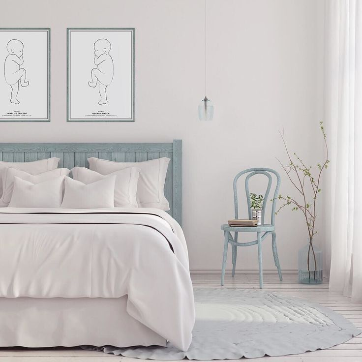 Sleep tight with your babies close at night  #bedroomdecor #bedroominspo #birthprint #scandi #studionatal
