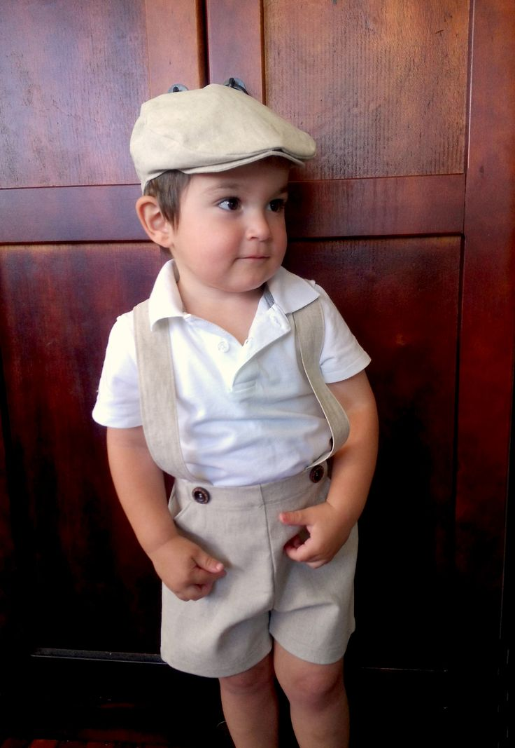 Boys Retro Pants With Braces. Complete The Vintage Look With A Cute Flat Cap And Bow Tie. A ...