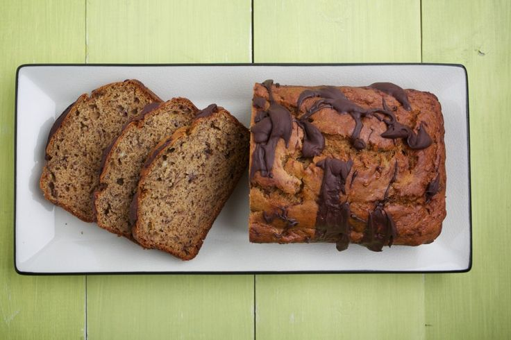 Banana Bread With Chocolate Drizzle- Ellie Krieger