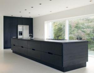 1000 idee n over zwart graniet keuken op pinterest zwarte werkbladen donkere keuken - Eiland zwarte bad ...