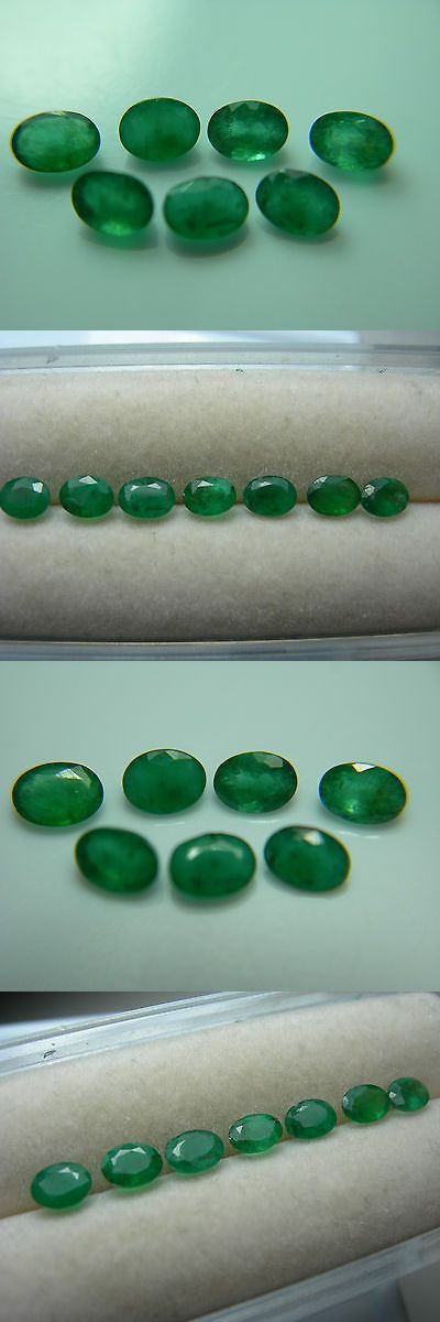 Natural Emeralds 3825: 7 Rare Zambian Emerald Gems Gemstone Green Zambia Genuine Natural Oval Parcel -> BUY IT NOW ONLY: $112.49 on eBay!