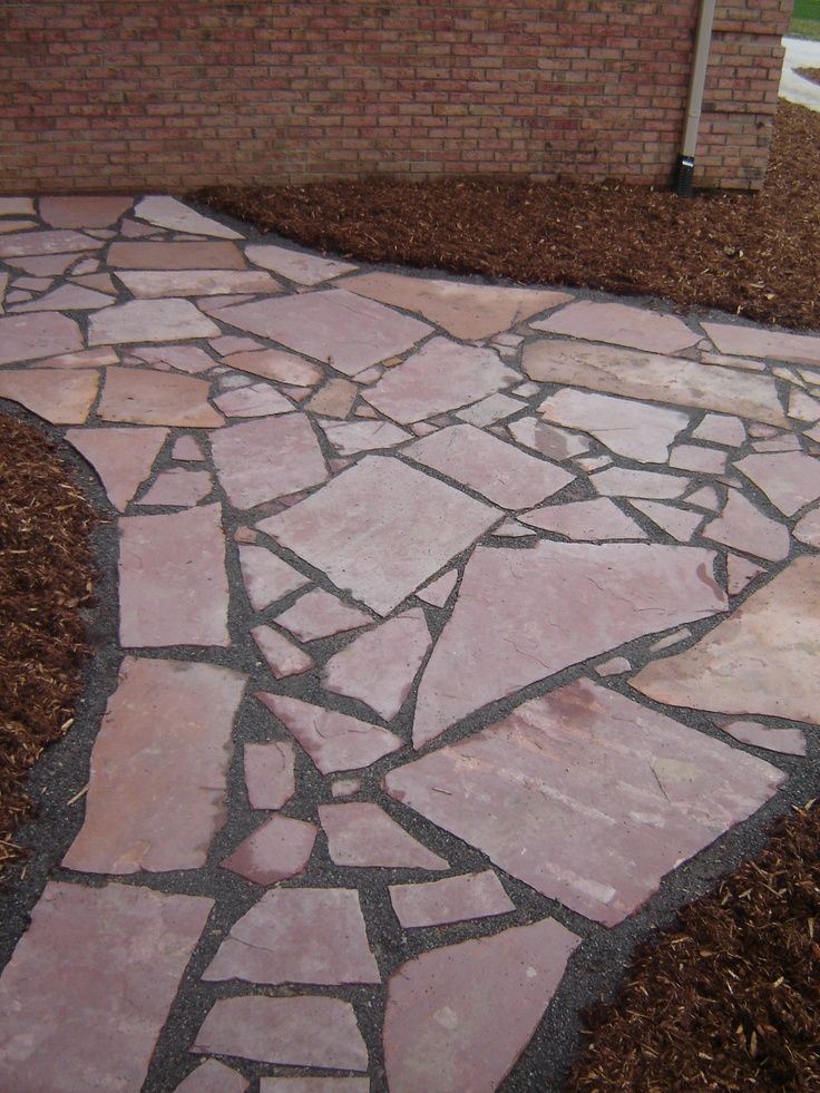 Red Canadian Flagstone Patio Flagstone Patios