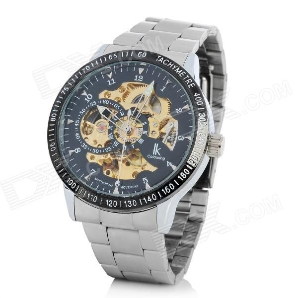 Stainless Steel Self-Winding Mechanical Tachymeter Wristwatch