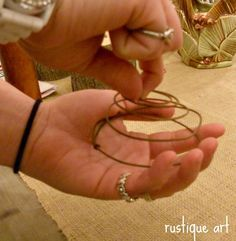 """""""How to make your own rusty bed springs"""" Finally. I've always wanted to make my own rusty bed springs."""