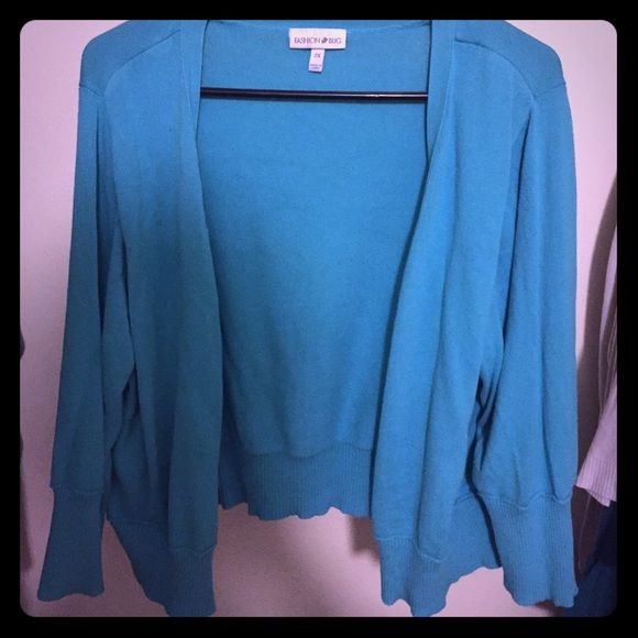 Fashion Bug light turquoise cardigan Beautiful light turquoise 3/4 long sleeve cardigan. One of my favorites!!  Only wore a couple times before it was too big for me. Fashion Bug Other