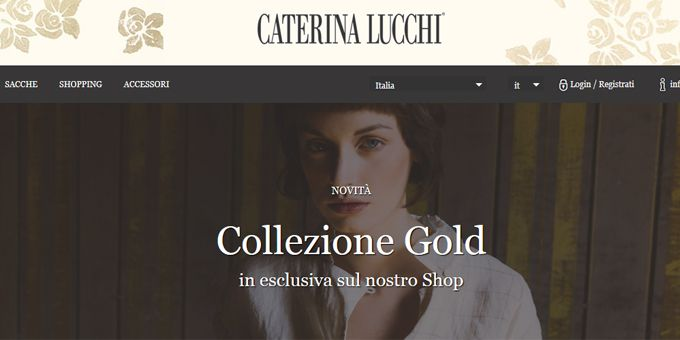 #ecommerce : Se amate le borse e lo stile di @CaterinaLucchi, non potete non segnare tra i vostri siti preferiti il suo nuovo store e-commerce online.http://www.sfilate.it/237946/la-collezione-gold-di-caterina-lucchi-la-trovate-nello-shop-online-del-brand