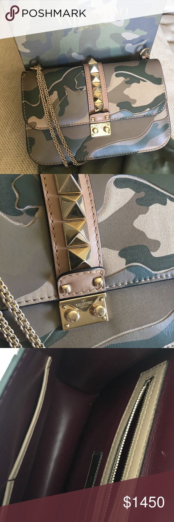 "VALENTINO Camouflage Medium Glam Lock Flap Bag Very good conditions, minor scratches inside. More pictures available. 11""x7""x3"" chain drop 20"". NO TRADE OR MAJOR DISCOUNTS. Thanks Valentino Bags Shoulder Bags"