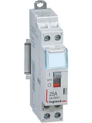 +Legrand+CX³+Ρελέ+ισχύος+ράγας+2P+25A+2NO++412544Χαρακτηριστικά: Ονομαστικό+ρεύμα:+25+A+230v Αριθμός+πόλων:++2P+NO(normaly+open) Συμμόρφωση+με+πρότυπα:+EN61095 Με+χειροκίνητο+διακόπτη+λειτουργίας++Κωδικός:412558