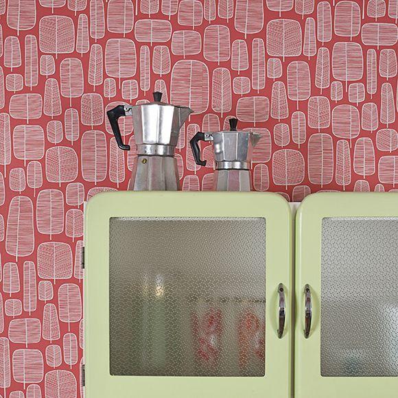les 45 meilleures images du tableau papier peint rouge sur pinterest. Black Bedroom Furniture Sets. Home Design Ideas