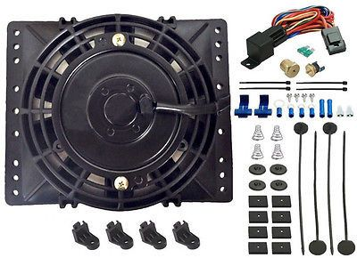 """6"""" Inch Electric Cooling Fan 3/8"""" Thermostat Sensor Kit Atv Tractor Mower Camper"""