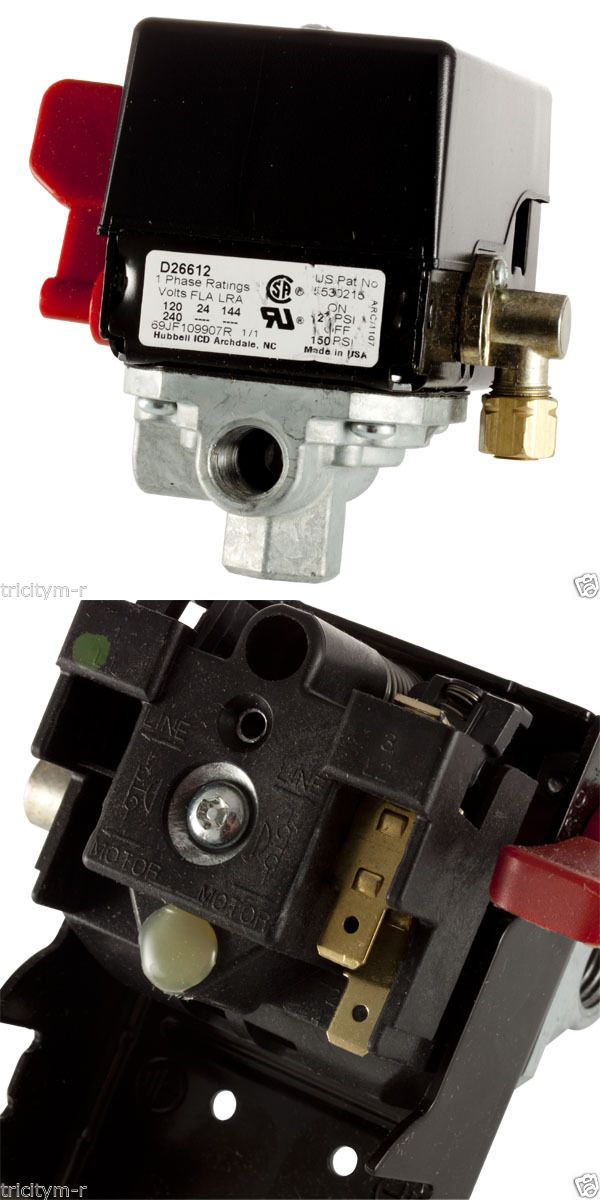 Air Compressors 30506: 5140117-89 Porter Cable Air Compressor Pressure Switch 150 120 Psi Craftsman Oem -> BUY IT NOW ONLY: $50.98 on eBay!