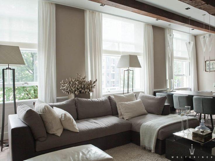 Meer dan 1000 idee n over groene decoratie op pinterest houten keukenkasten keukenkasten - Kleur aan loungeeetkamer ...