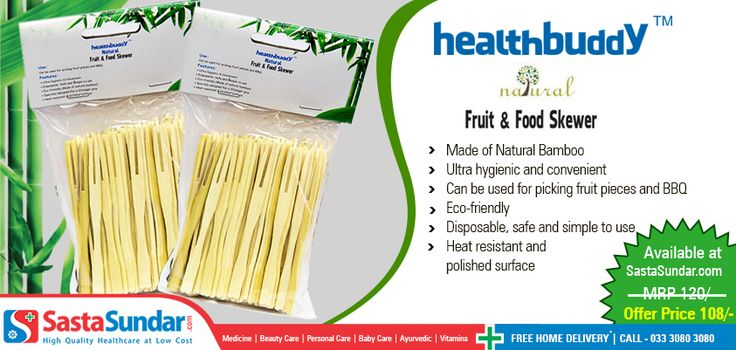Now picking up fruit pieces and BBQ is both convenient and hygienic with Healthbuddy Natural Fruit & Food Skewer http://bit.ly/1lFmS6a