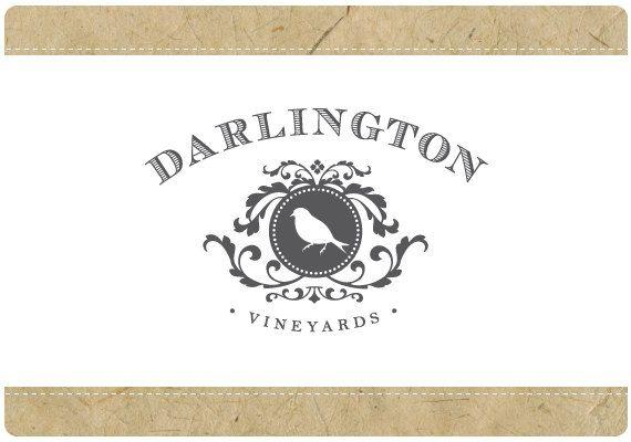 カスタム ロゴ - あらかじめデザインされたロゴ - ロゴ - - 樹脂 - ダーリントンのロゴデザイン - 鳥ロゴマーク - ビンテージ ベクトル ロゴマーク - アンティーク ロゴをあらかじめ作られました。