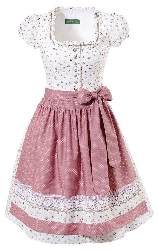 Country Line Dirndl 2 Tlg Midi Mit Knopfverschluss Online Kaufen Dirndl Mode Damenmode
