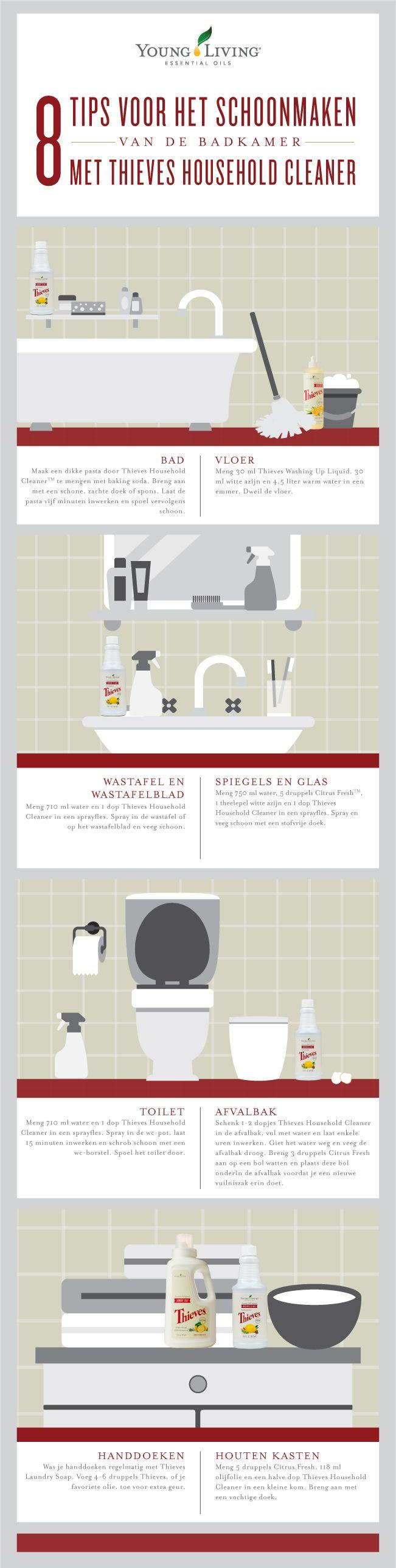 Tips Voor Het Schoonmaken Van De Badkamer Met Thieves Allesreiniger Badkamer Schoonmaken Allesreiniger Schoonmaaktips