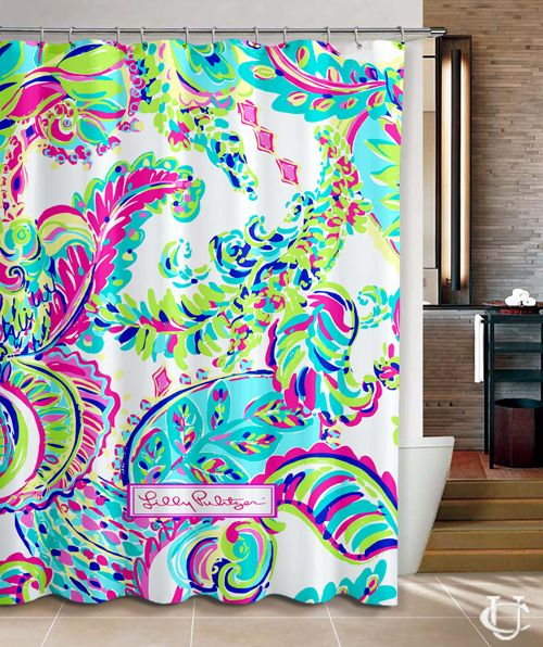New custom lilly pulitzer colorful Shower Curtain