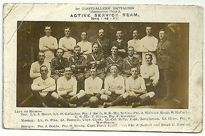 Ww1 military postcard #sport middlesex regiment #active service #football team,  View more on the LINK: http://www.zeppy.io/product/gb/2/232151985125/