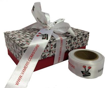 Vamers Gaming, Branded Gift Boxes, 2 sizes with ribbon to match :)