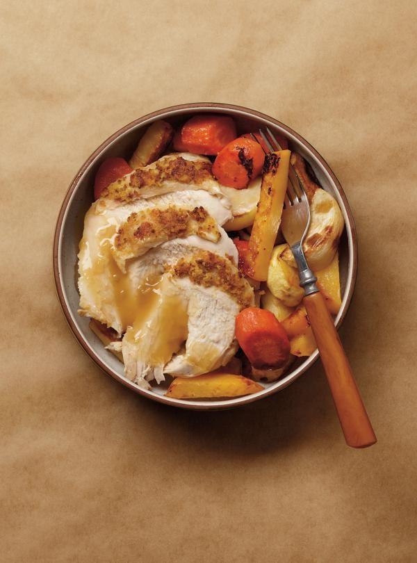 Ricardo's recipe : Mustard-Rubbed Roasted Turkey Breast