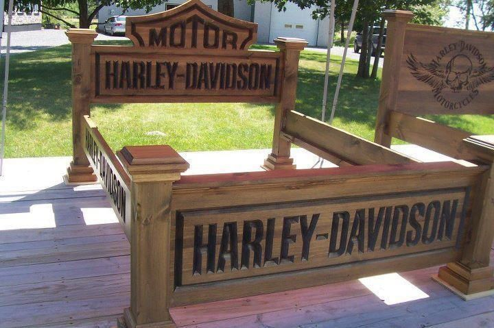 Harley-Davidson Bed Frames   HARLEY DAVIDSON BED FRAME   HOME DECOR AND CANDLES