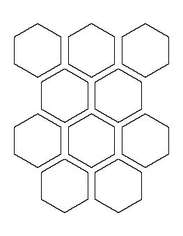 3 inch hexagon template - 2 5 hexagon pattern stencil pattern pinterest